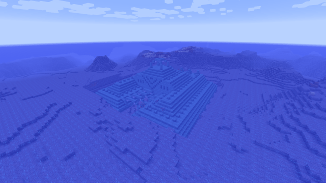 [PC 1.8] Desert village with blacksmith and ocean monument at spawn!