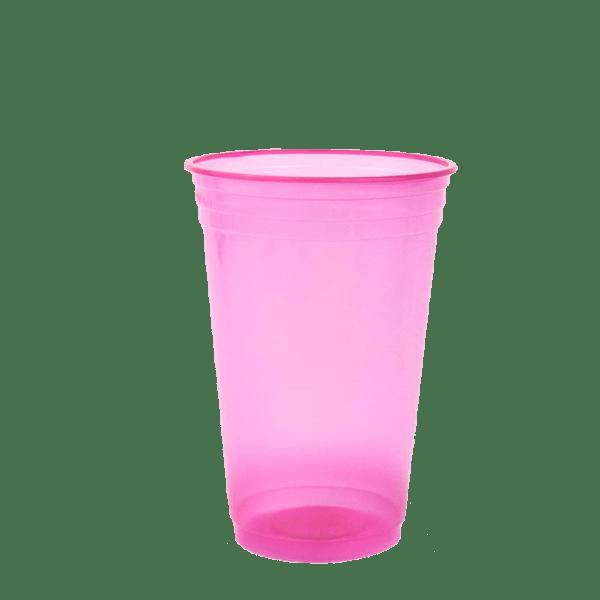 Mineira-Embalagens-Copo-Descartavel-Neon-Balada-Rosa-300ML-Copobras