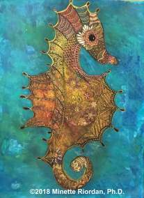 Zentangle-Inspired Seahorse