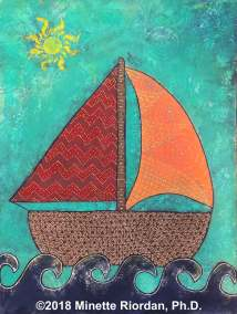 Mixed Media Sailboat
