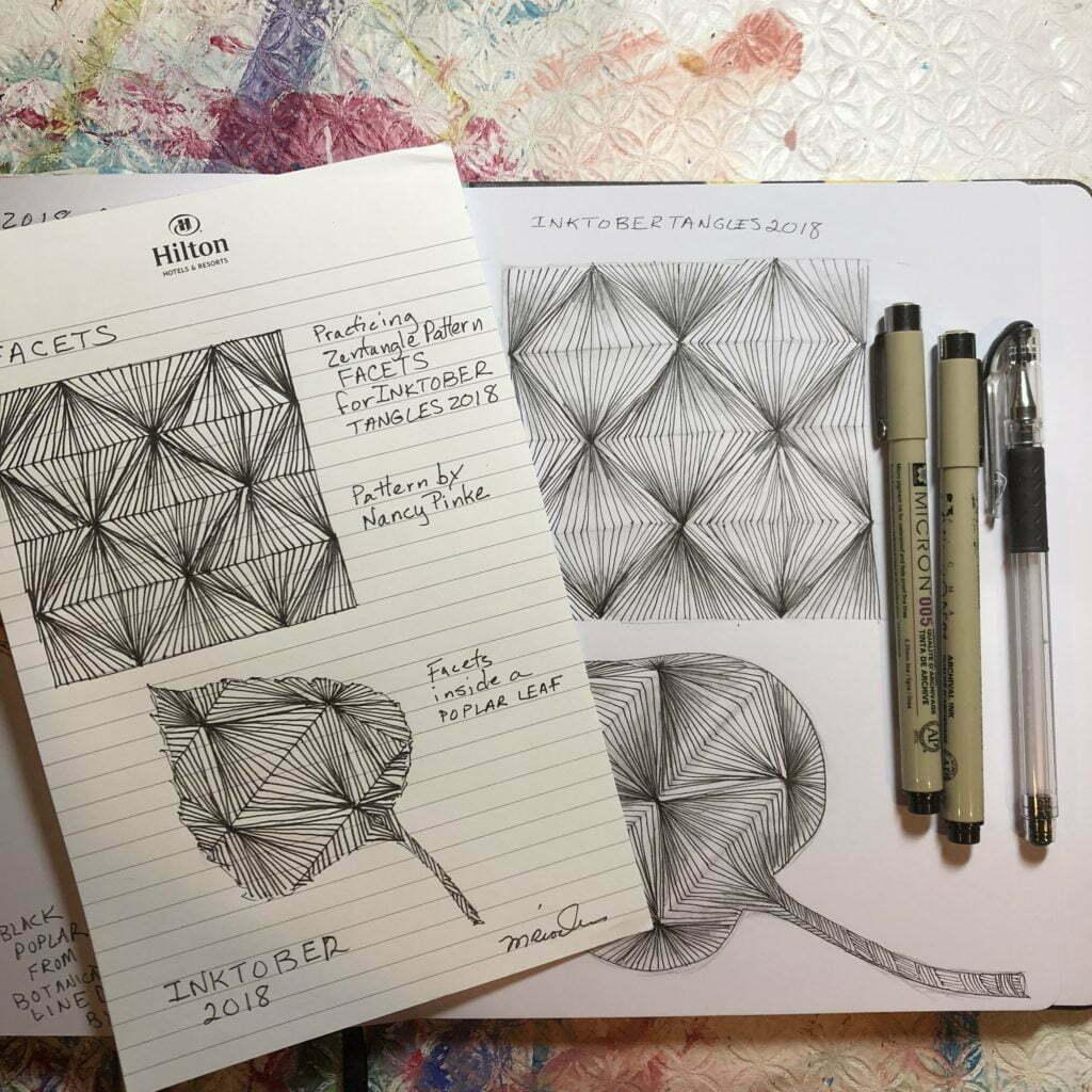 Zentangle Pattern Facets