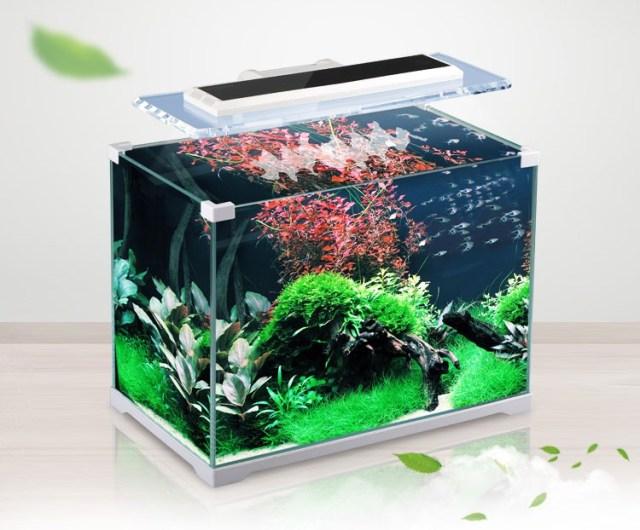 ATK 350 4.5gal Nano Fish Tank w/ 10W LED Light & Internal Filter