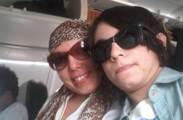 myrna e filho