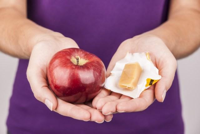 maçã ou doce?