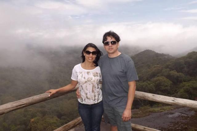 Denise com marido