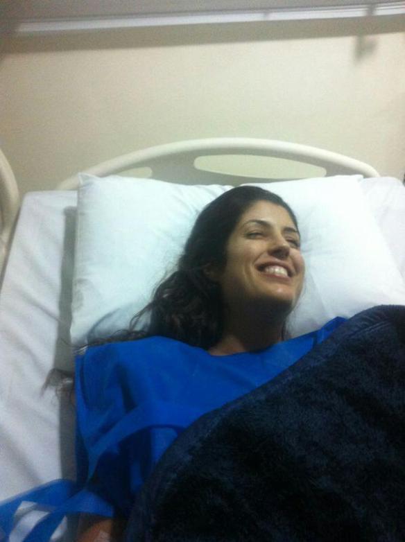 Apesar de foto terrível, foi a 1ªfoto pós cirurgia