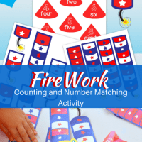 Free Printable Firework Counting 1 - 10 Activity