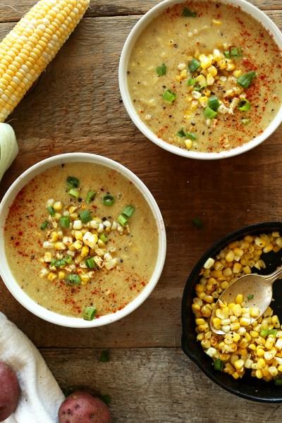 Vegan Corn Chowder Soup | Minimalist Baker Recipes