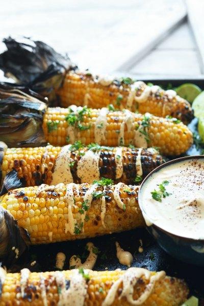 Grilled Corn with Sriracha Aioli   Minimalist Baker Recipes