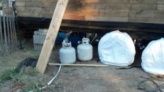 The propane tanks will be come part of the skirted area as well and be concealed.