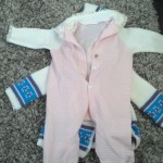 And a cute pink onesie!  I love them all, thanks so much Becca, they will be put to good use!
