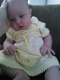 ANd her very pretty dress from Puru, auntie Gia lent this to us! So SOFT!