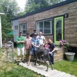 The crew plus James