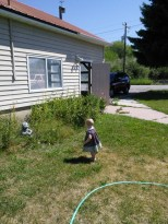 Hazel playing at grandpas