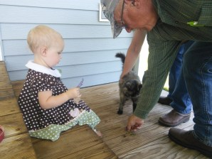 and played with the farm kitty, who actually hung around!