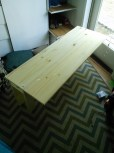The start of the co sleeper i built him. I took Hazels apart to build the bunk beds but I wanted one that would work with our king size bed too, so I made thiis