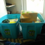 These two boxes of kiddo books were given to us, LOTS of books :)