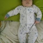 Hes great at sleeping!