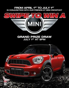 Win a MINI at Grey Eagle Casino (Calgary, Alberta)