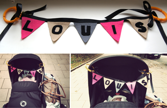 Mini Piccolini - DIY No-Sew Personalized Stroller Bunting