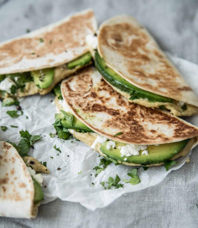 Mini Piccolini | 3 great hummus recipes and easy quesadillas with hummus, avocado and feta