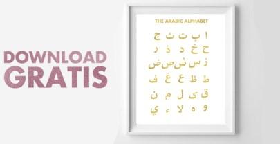 Alif Baa poster downloaden | Het Arabische alfabet