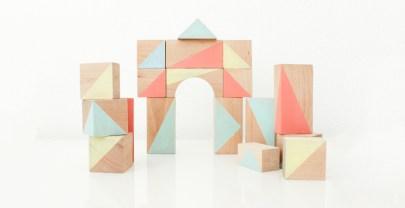 Houten blokken verven | DIY