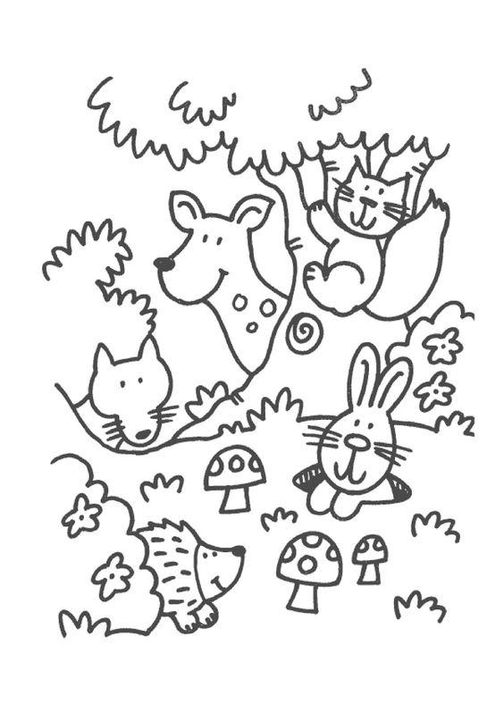 Kleurplaat Dieren Peuters Idee 235 N Over Kleurpagina S Voor