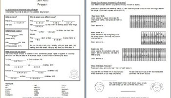"Learn about the BIble"" Free Printable Worksheets for Kids"