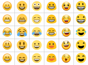 Cada fabricant, sistema operatiu o aplicació pot tenir un dibuix diferent. / Unicode Consortium
