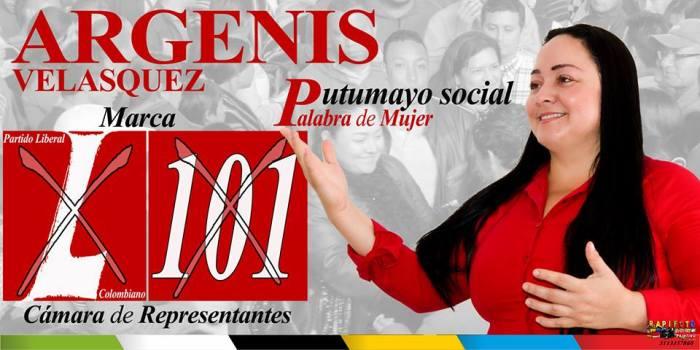 Orgullosamente representante, mujer y putumayense, Argenis Velásquez Ramírez