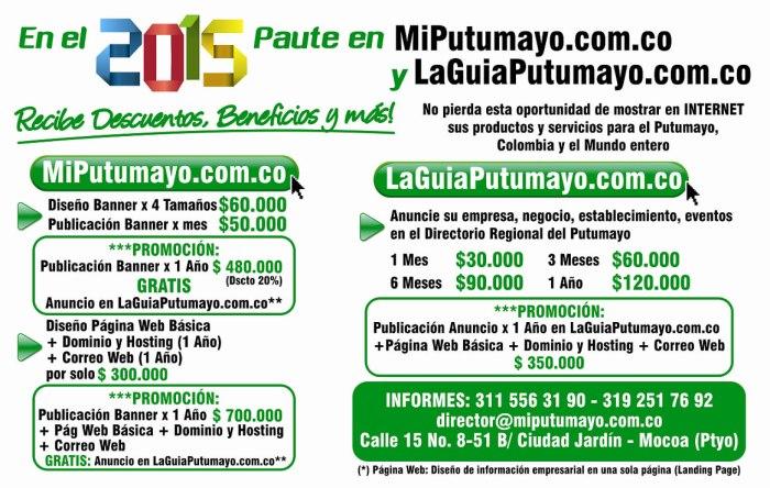 En el 2015 PAUTE en MiPutumayo.com.co y LaGuiaPutumayo.com.co
