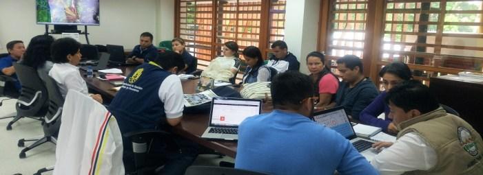 Jornada para analizar situación de amenazas y riesgos en la quebrada La Taruca, municipio de Mocoa, Putumayo