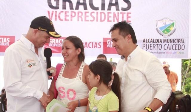 Desde hoy, 192 familias vulnerables del Putumayo tienen casa propia