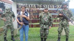Brigada de Selva n° 27 rescata a mamífero que presuntamente sería vendido