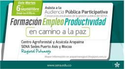 SENA Putumayo realiza audiencia pública participativa