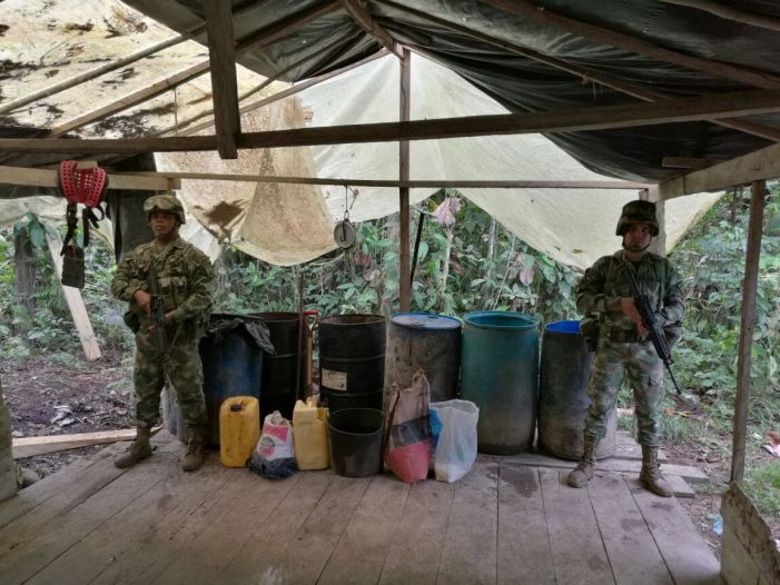 Armada Nacional localiza laboratorio para el procesamiento de coca en el Putumayo