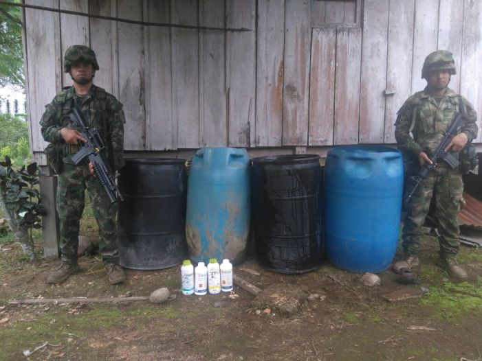 Destruidos tres laboratorios para el procesamiento de pasta base de coca en el Putumayo