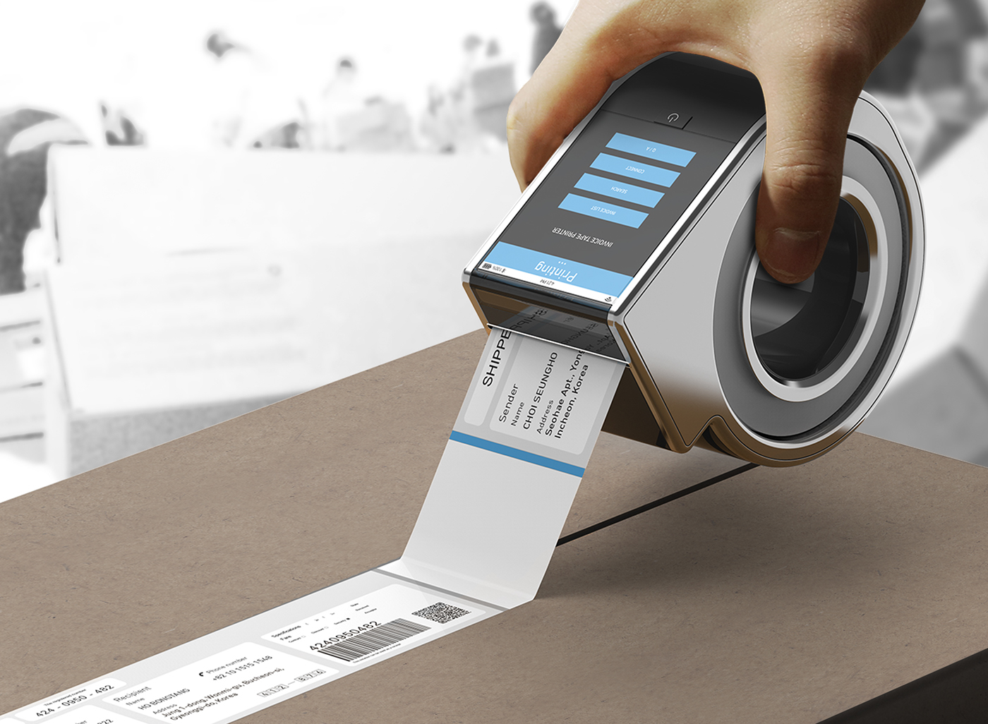 Invoice Tape Printer on Behance Invoice tape printer is a tool that prints invoice on box by the shipper  which enables effective protection of personal information