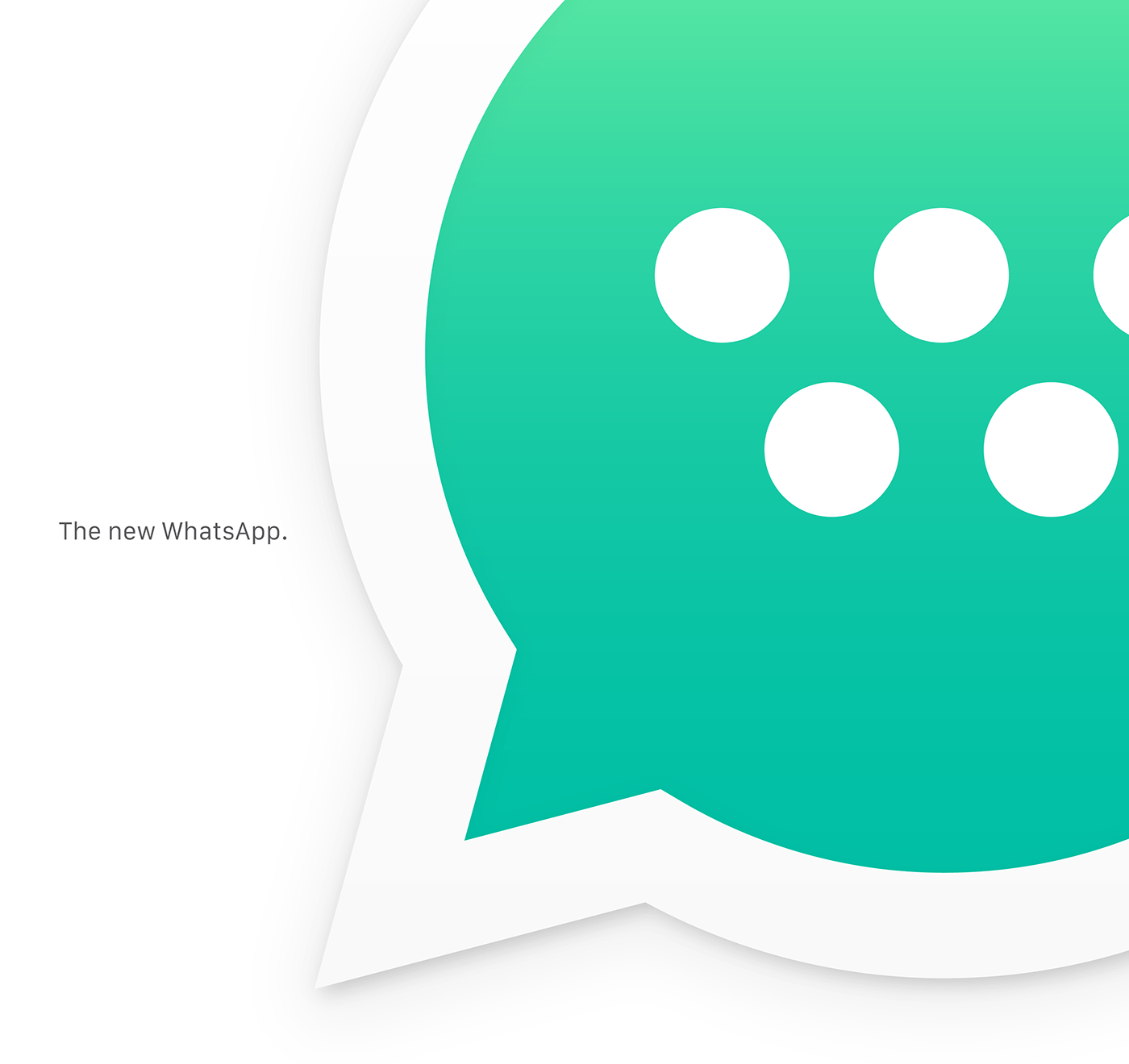 The new WhatsApp on Behance Since 2009 WhatsApp is the service that has connected thousands of people  around the world  Billions of messages exchanged  many conversations