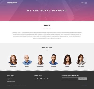 UI Design - Royal Diamond on PhilaU Portfolios