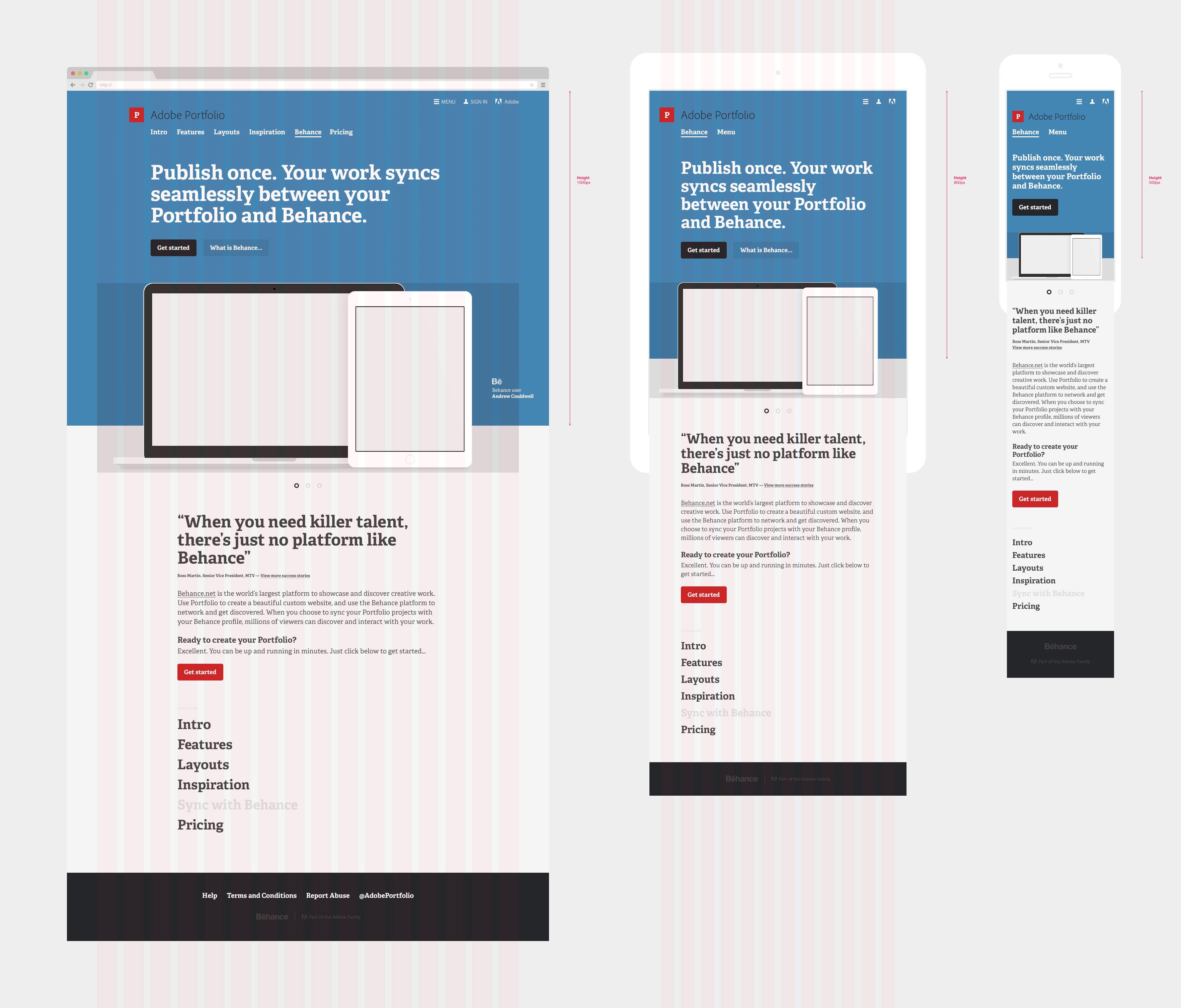 Fullsize Of Adobe Portfolio Examples