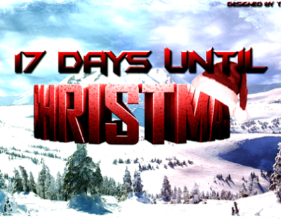 17 Days Until Christmas Wallpaper on Behance
