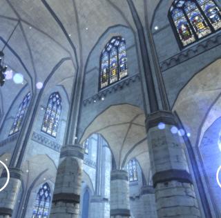 Eglise gothique en réalité virtuelle immersive