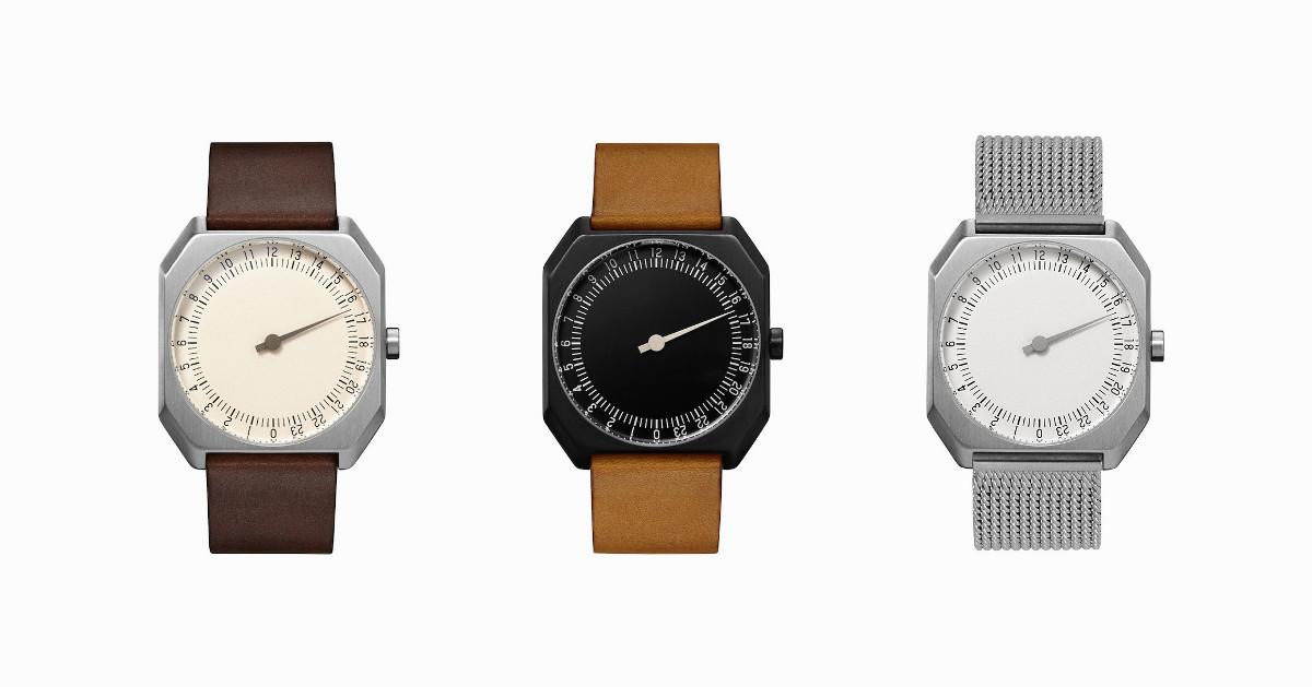"""忙しい人のための、ゆったり時を刻む腕時計。1日で1周する""""Slow Jo"""""""