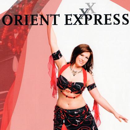 Tänzerin Marina Nickel vom Tanzstudio Miral in Fürstenwalde tritt auf der 23. Tanzwoche im Orient Express auf