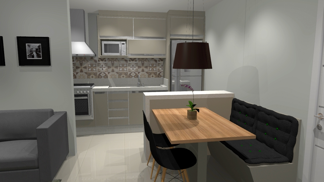 Decora O Sala Apartamento Pequeno Com Cozinha Americana Oppenau Info -> Sala Planejados Para Apartamentos Pequenos