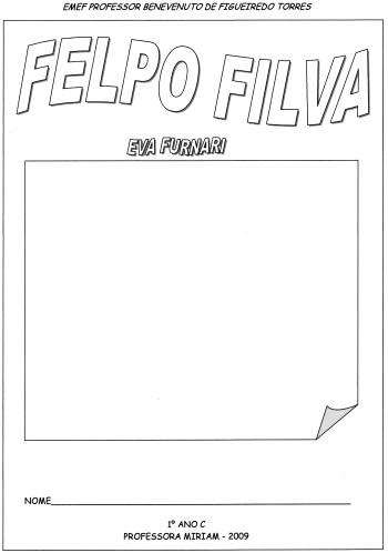 Felpo Filva-Eva Furnari-Projeto Completo-Folha 1