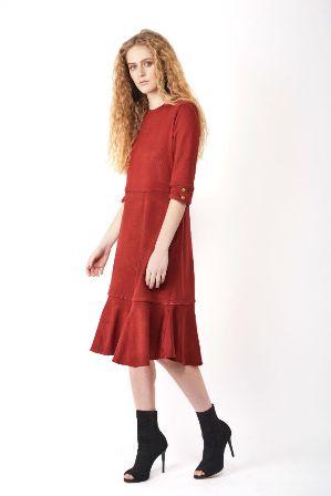 שמלת סריג חמר ה3