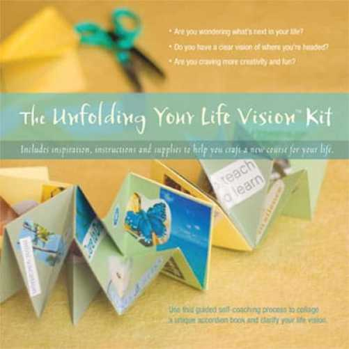 Unfolding Your Life Vision collage book